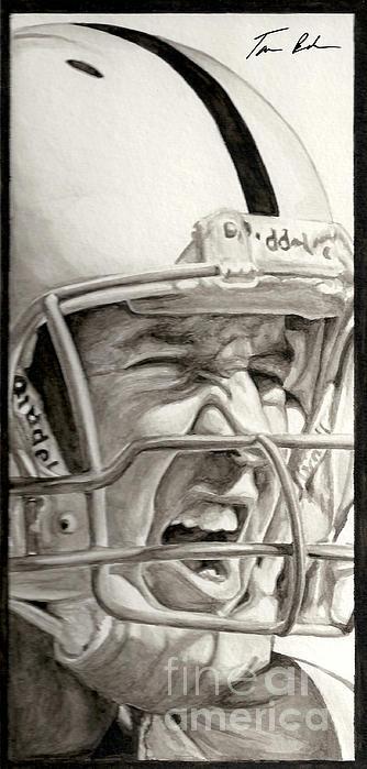 Intensity Peyton Manning Print by Tamir Barkan