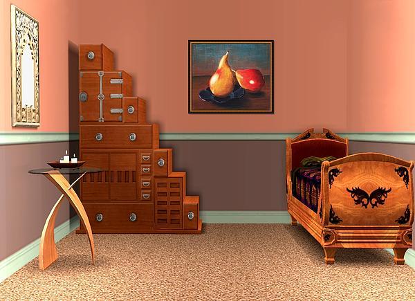 Interior Design Idea - Two Pears Print by Anastasiya Malakhova