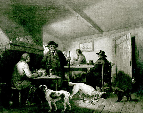 Interior Of A Country Inn Print by George Morland