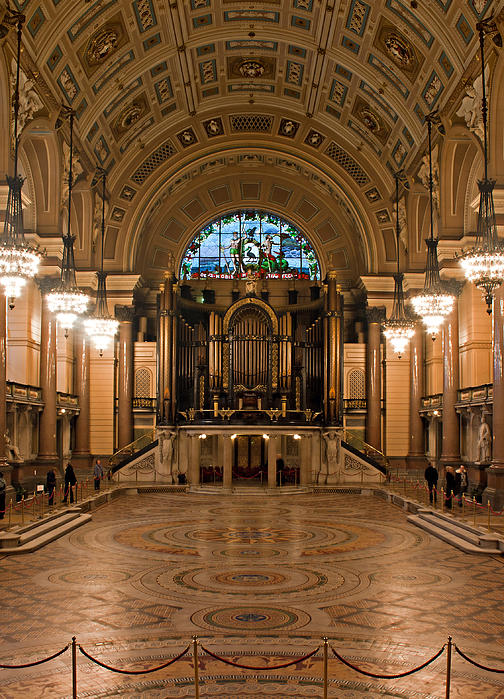 Interior Of St Georges Hall Liverpool Uk Grade 1 Listed Build Print by Ken Biggs