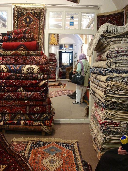 Iran Persian Carpets Print by Lois Ivancin Tavaf