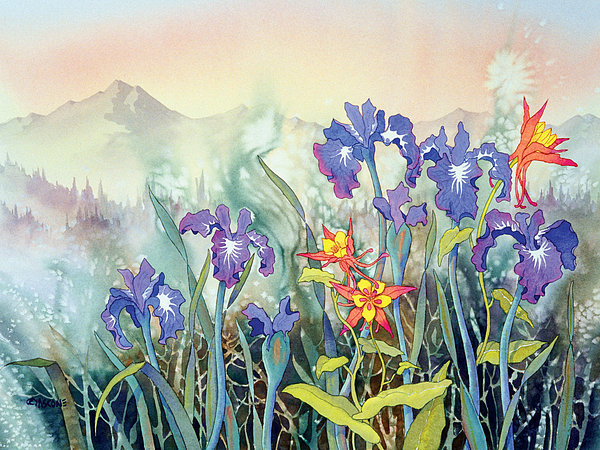 Teresa Ascone - Iris and Columbine II