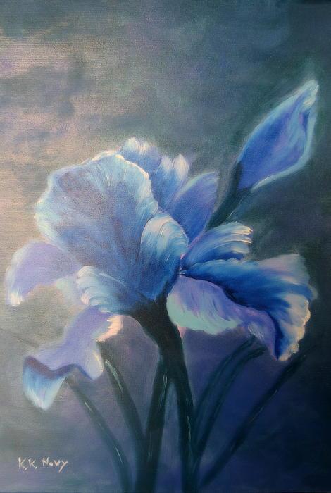 Iris Blue Print by Kay Novy