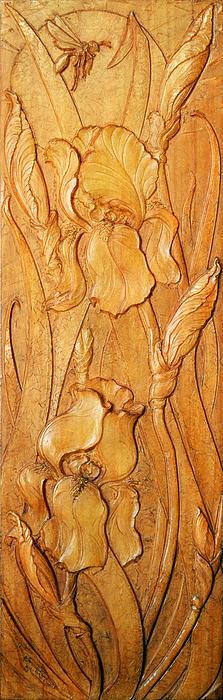 Irises Koto-ku Print by Jeremiah Welsh