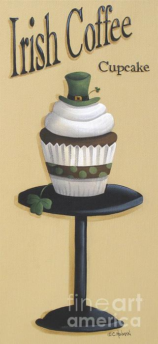 Irish Coffee Cupcake Print by Catherine Holman