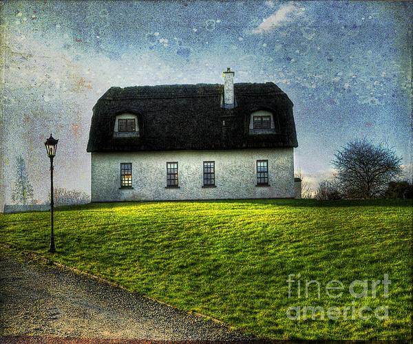 Irish Thatched Roofed Home Print by Juli Scalzi