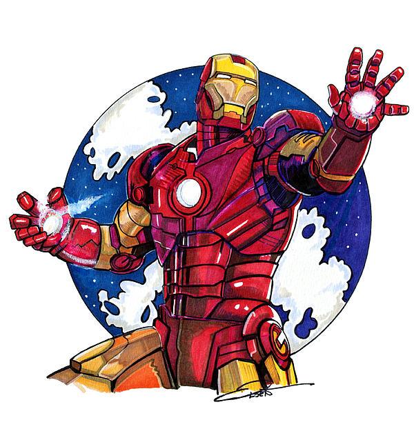 Iron Man Print by Dave Olsen
