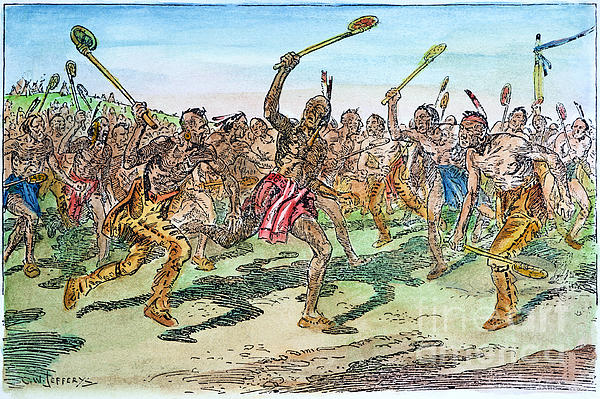 Iroquois - Lacrosse. Print by Granger