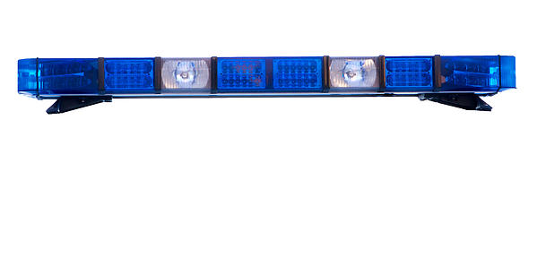 Isolated Police Emergency Light Roof Bar Print by Fizzy Image