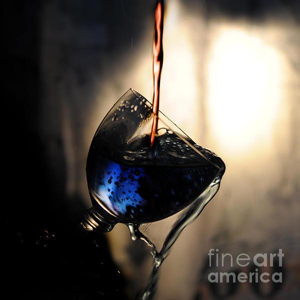 It Is Red And Blue Print by Randi Grace Nilsberg