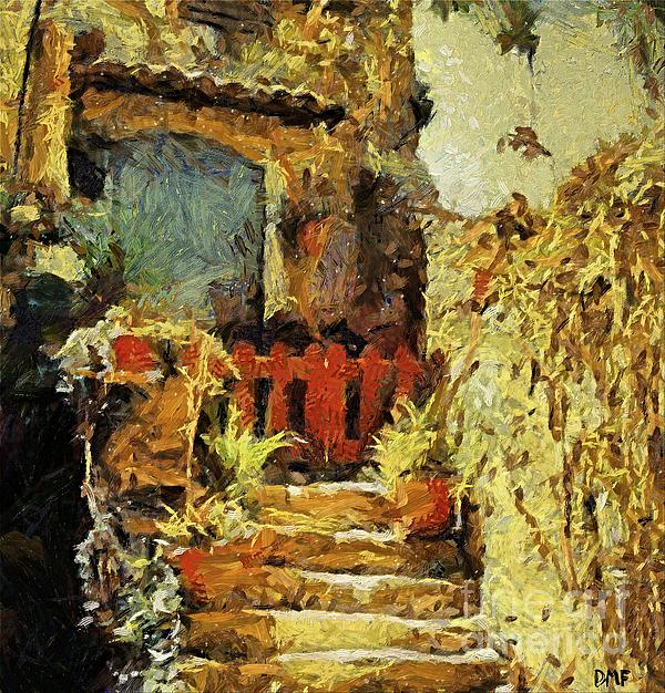 Italian Courtyard Print by Dragica  Micki Fortuna