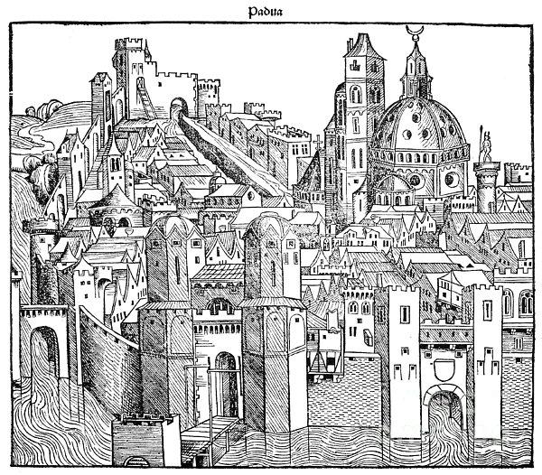 Italy - Padua 1493 Print by Granger