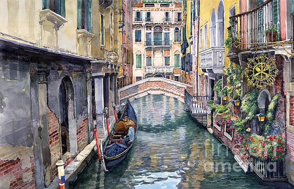 Italy Venice Trattoria Sempione Print by Yuriy Shevchuk