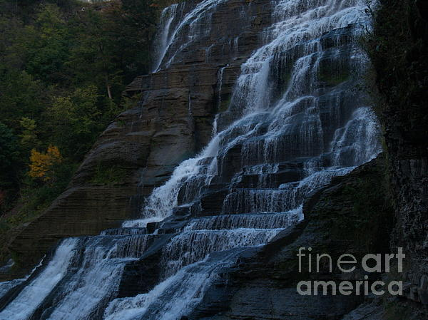 Ithaca Falls At Dusk Print by Anna Lisa Yoder