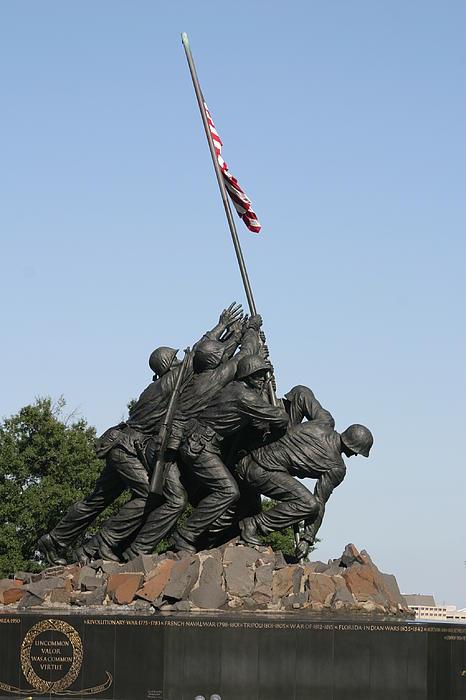 Iwo Jima Memorial - 12121 Print by DC Photographer