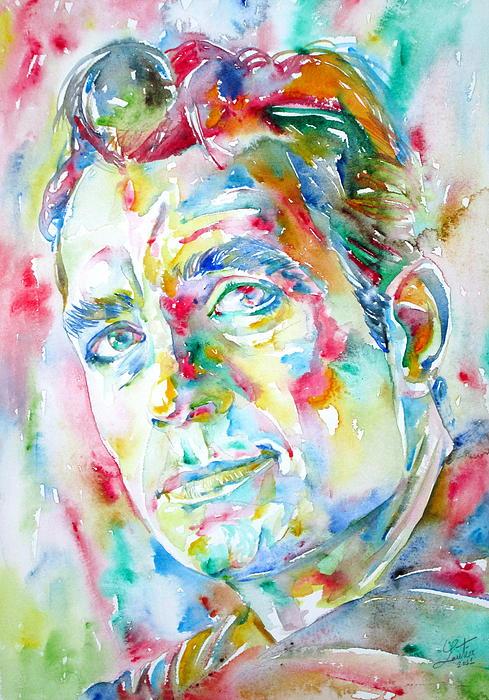 Jack Kerouac Portrait.1 Print by Fabrizio Cassetta