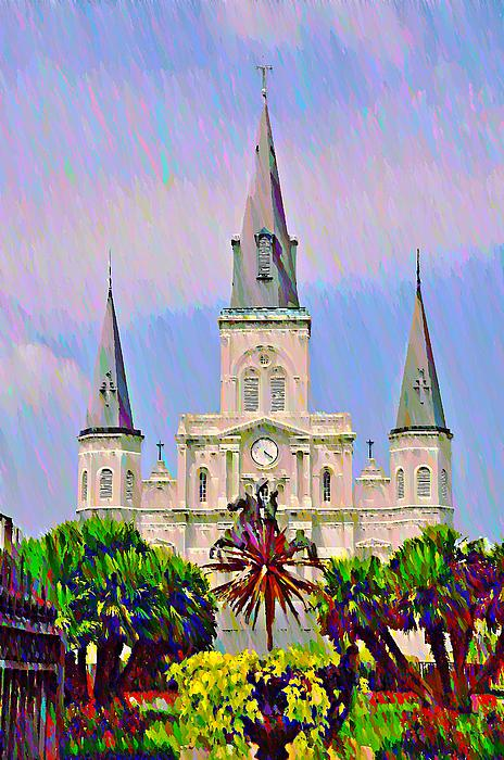 Jackson Square In The French Quarter Print by Bill Cannon