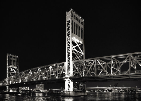 Jacksonville Florida Main Street Bridge Print by Christine Till