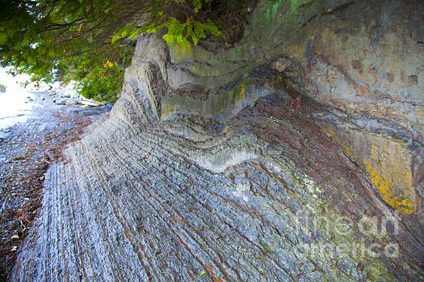 Jagged Rock Print by Graham Foulkes
