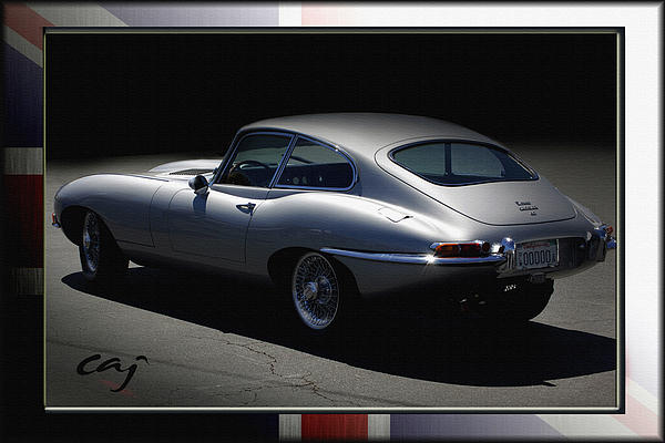 Jaguar E-type By Moonlight Print by Curt Johnson