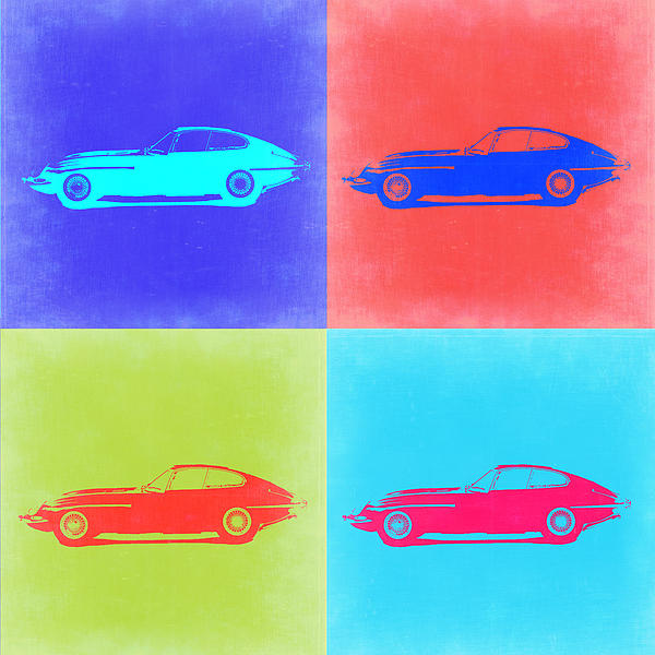 Jaguar E Type Pop Art 2 Print by Naxart Studio