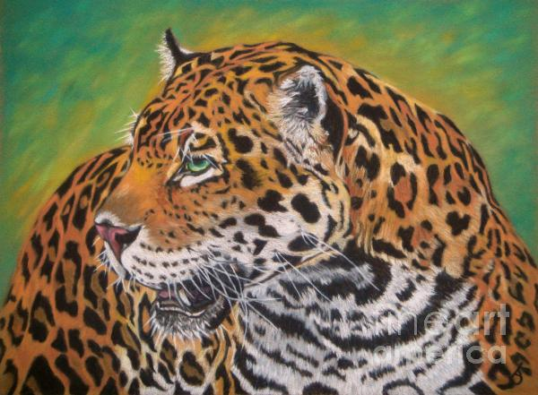 Jaguar Print by Yvonne Johnstone