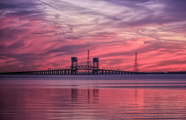 Olahs Photography - James River Bridge at Sunset