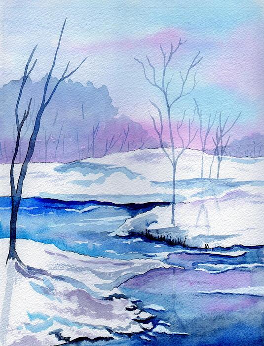 January Snowscape Print by Brenda Owen