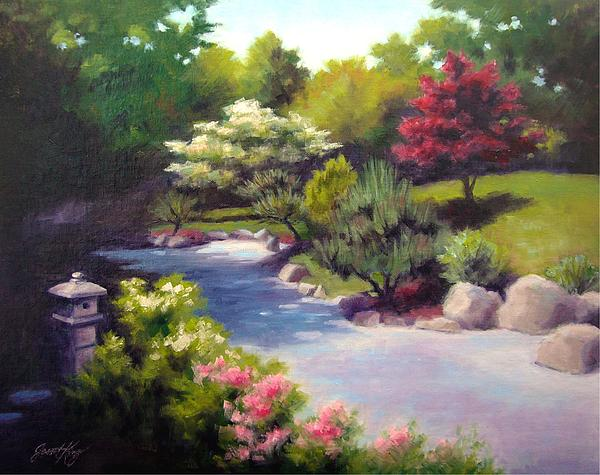Japanese Garden At Cheekwood Print by Janet King