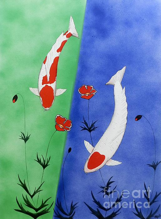 Japanese koi kohaku and tancho by gordon lavender for Koi kohaku japanese