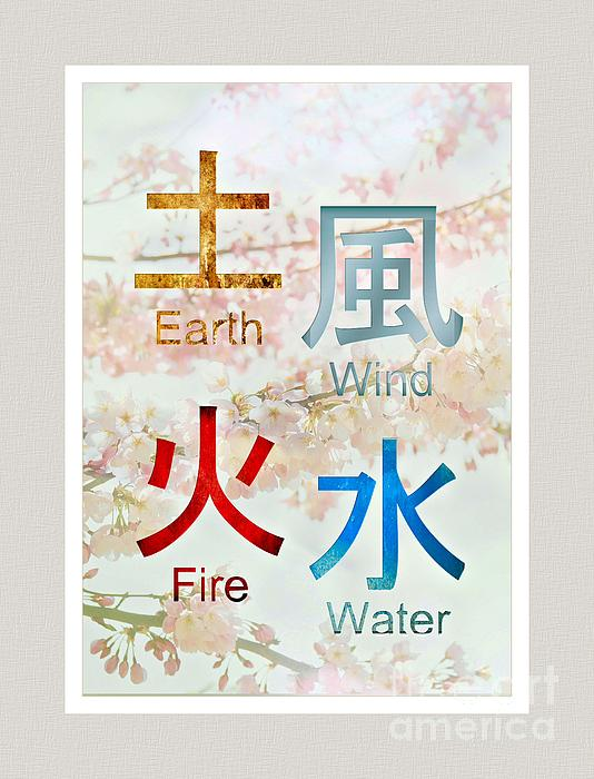 Earth Wind Fire Water Symbols