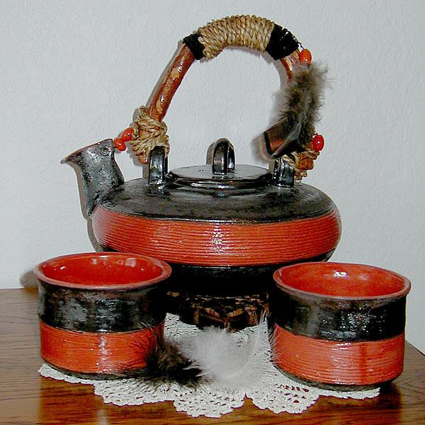 Japanese Tea Set Print by Beth Gramith