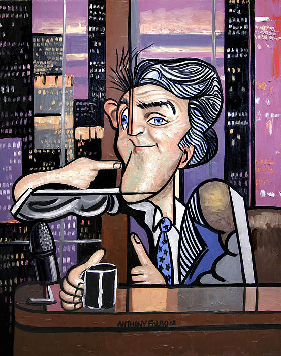 Jay Leno You Been Cubed Print by Anthony Falbo