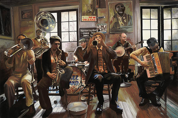 Jazz Orchestra Print by Guido Borelli