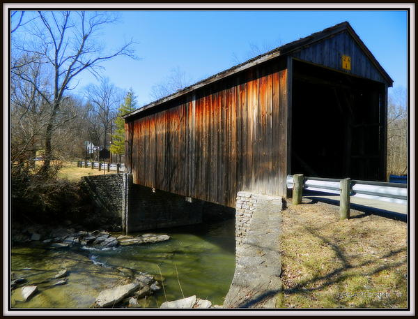 Kathy Barney - Jediha Hill Covered Bridge I