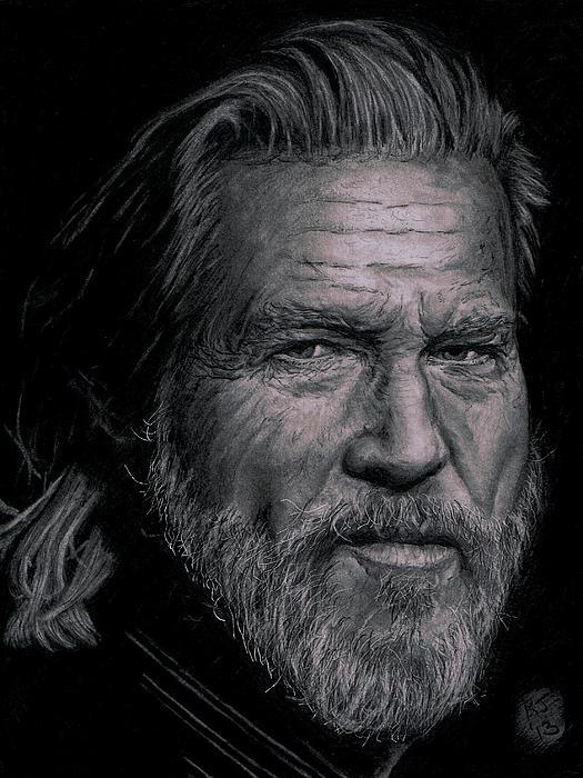 Jeff Bridges Print by Ryan Jacobson
