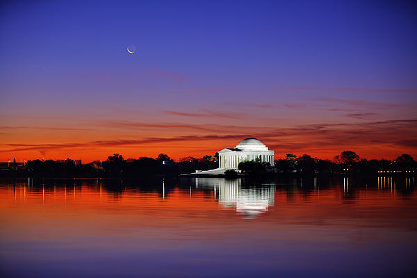 Jefferson Memorial At Dawn Print by Metro DC Photography