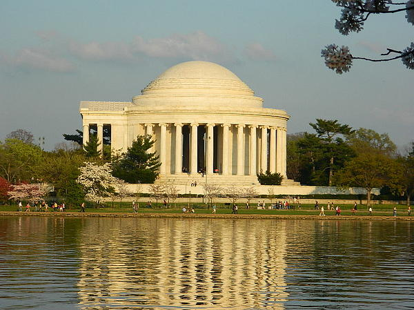 Jefferson Memorial At Sunset Print by Emmy Marie Vickers