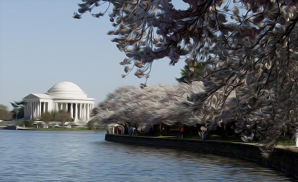 Jeffersonian Blossoms Print by Kelvin Booker
