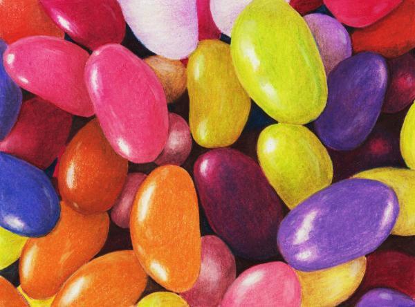 Jelly Beans Print by Anastasiya Malakhova