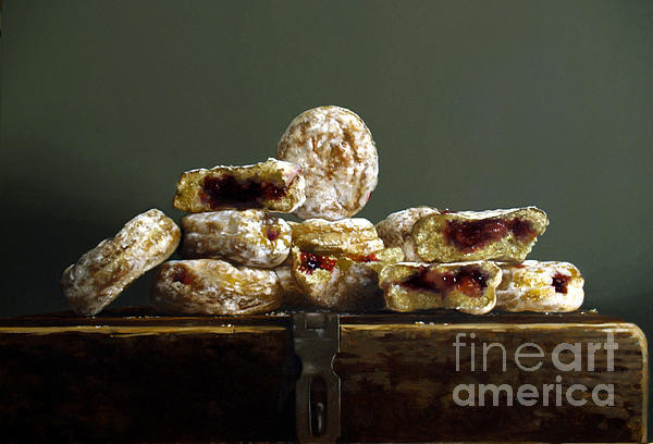 Jelly Donuts Print by Larry Preston