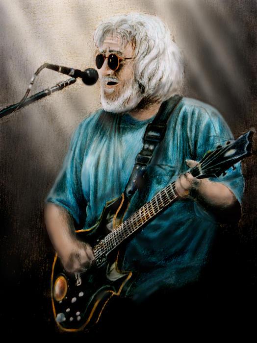 Jerry Garcia By Edward Pollick Print by Edward Pollick