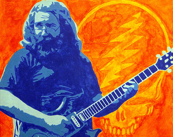 Jerry Garcia Print by Doran Connell
