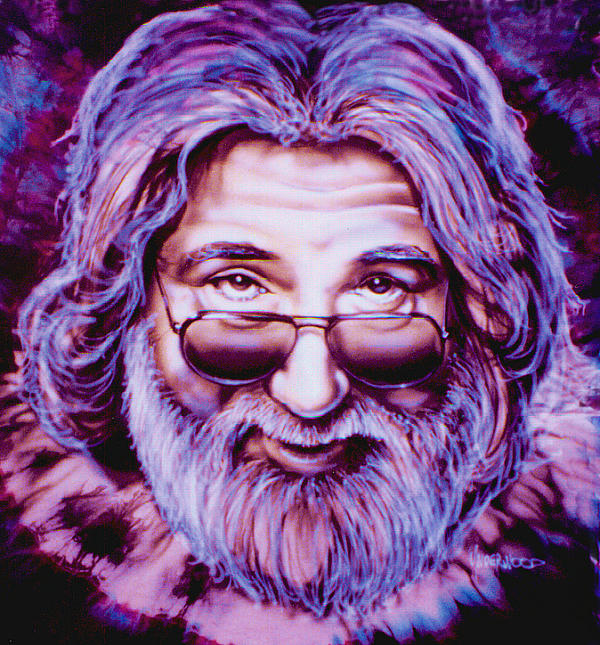 Jerry Garcia Print by Mike Underwood