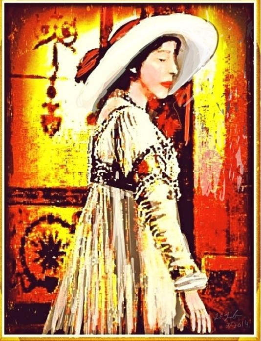 Jersey Lil Langtry Print by Larry Lamb