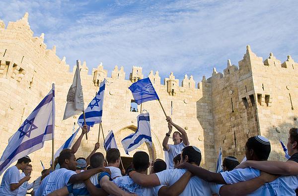 Jerusalem Day Print by Kobby Dagan