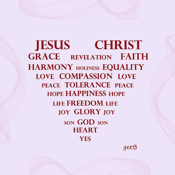 Jesus Christ Message Print by Georgeta  Blanaru