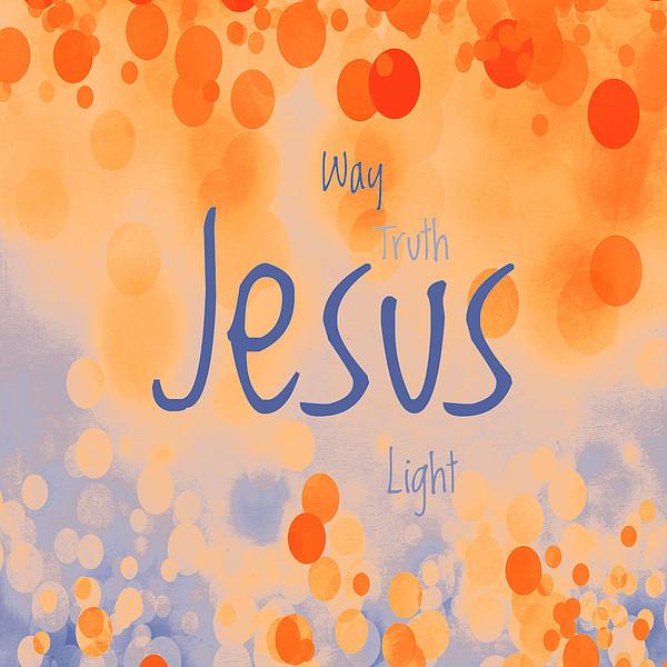 Jesus Light 2 Print by Angelina Vick