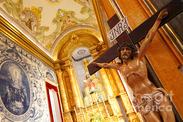 Jesus On The Cross Print by Gaspar Avila