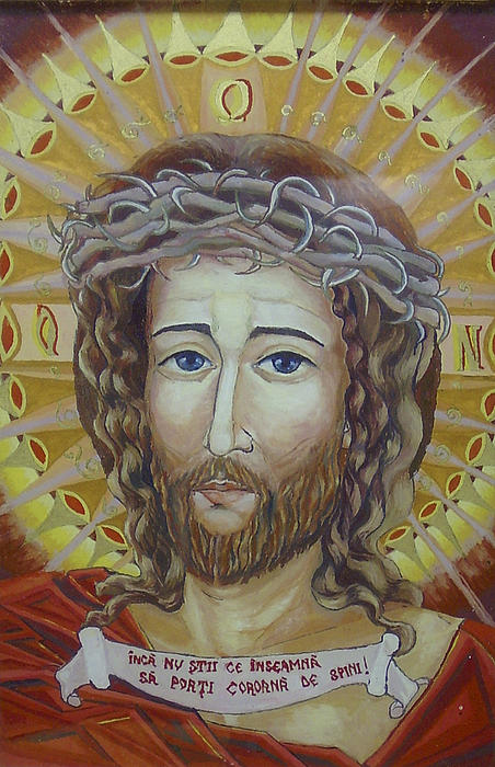 Jesus Thorns Crown Print by Tanase Carolina